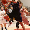 2-17-18<br /> Northwestern vs Fairfield semistate<br /> Madison Layden heads to the basket.<br /> Kelly Lafferty Gerber | Kokomo Tribune