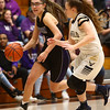 2-17-18<br /> Northwestern vs Fairfield semistate<br /> Madison Layden dribbles down the court.<br /> Kelly Lafferty Gerber | Kokomo Tribune