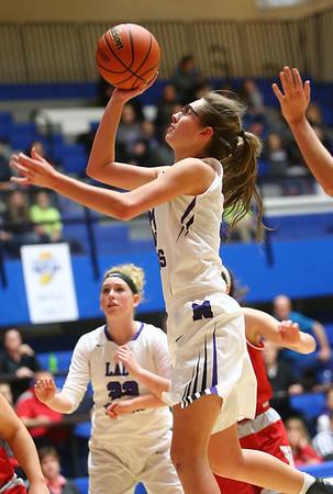 2-3-18<br /> Northwestern vs West Lafayette girls basketball sectional championship<br /> Madison Layden heads to the basket.<br /> Kelly Lafferty Gerber | Kokomo Tribune