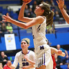 2-3-18<br /> Northwestern vs West Lafayette girls basketball sectional championship<br /> Madison Layden heads to the basket.<br /> Kelly Lafferty Gerber | Kokomo Tribune