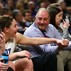 2-24-18<br /> Northwestern wins the 3A state championship against Greensburg 63-42. Kendall Bostic reaches for the hand of her dad and assistant coach Kevin Bostic as the game nears the end.<br /> Kelly Lafferty Gerber | Kokomo Tribune