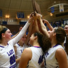 2-3-18<br /> Northwestern vs West Lafayette girls basketball sectional championship<br /> Northwestern celebrates with the sectional trophy.<br /> Kelly Lafferty Gerber | Kokomo Tribune