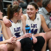 2-24-18<br /> Northwestern wins the 3A state championship against Greensburg 63-42. Kendall Bostic, right, puts her arm around teammate Stephanie Burns as the game nears a close.<br /> Kelly Lafferty Gerber | Kokomo Tribune