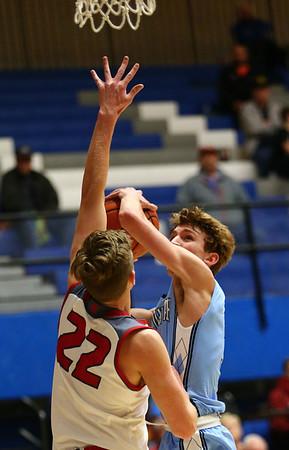 2-27-18<br /> Maconaquah vs West Lafayette boys basketball<br /> Mac's Chandler Pitts shoots.<br /> Kelly Lafferty Gerber | Kokomo Tribune