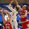 2-3-18<br /> Northwestern vs West Lafayette girls basketball sectional championship<br /> Taylor Boruff puts up a shot.<br /> Kelly Lafferty Gerber | Kokomo Tribune
