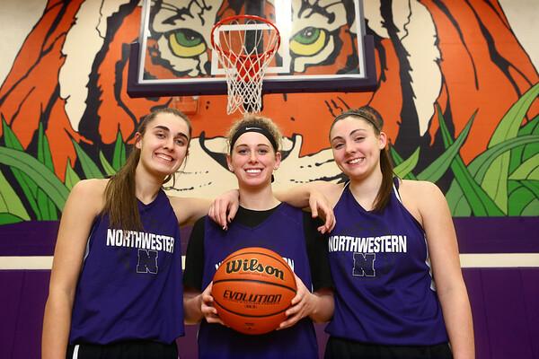 Northwestern's Madison Layden, Taylor Boruff, and Kendall Bostic.<br /> Kelly Lafferty Gerber | Kokomo Tribune