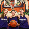 Northwestern's Madison Layden, Taylor Boruff, and Kendall Bostic.<br /> Kelly Lafferty Gerber | Kokomo Tribune