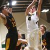2-13-18<br /> Eastern vs Alexandria boys basketball<br /> Eastern's Matthew Arcari shoots.<br /> Kelly Lafferty Gerber   Kokomo Tribune