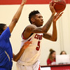 2-21-18<br /> IUK vs Ohio Christian boys basketball<br /> IUK's Antoin Clifton throws a pass.<br /> Kelly Lafferty Gerber | Kokomo Tribune