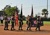 Color guard and flags provided by the Veterans of Foreign Wars (VFW).