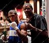Boxing-New York Allstars vs British National Team<br /> Mark Breland former US Olympic gold medalist