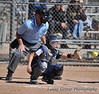 #1 Brittney Rivas catching behind the plate.