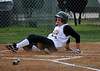 #24 Brittany Wright slides home for the 1st run.