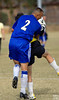 tackle, hey, this is soccer:-)