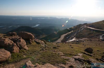 2010- Pikes Peak Hill Climb, Sunday Race Day  Photos By: Stu Kennedy Good Morning
