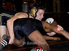 NYSPHSAA Section IV Wrestling Championship-Division 1, February 11, 2012. Heze Morgan (Union-Endicot) vs Chris Abernatha (Corning) battling for 3rd place @ 120lbs.