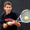 "Andrew Pollack of Fairview, plays in the #3 doubles match with Tommy Mason against Cherry Creek.<br /> For more photos of state tennis, go to  <a href=""http://www.dailycamera.com"">http://www.dailycamera.com</a>.<br /> Cliff Grassmick / October 15, 2011"