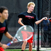 "Andrew Pollack, left,  of Fairview, plays in the #3 doubles match with Tommy Mason, hitting against Cherry Creek.<br /> For more photos of state tennis, go to  <a href=""http://www.dailycamera.com"">http://www.dailycamera.com</a>.<br /> Cliff Grassmick / October 15, 2011"