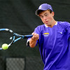 "Levi Chandler of Boulder High plays in the #2 doubles match with Harrison Vivas.<br /> For more photos of state tennis, go to  <a href=""http://www.dailycamera.com"">http://www.dailycamera.com</a>.<br /> Cliff Grassmick / October 15, 2011"
