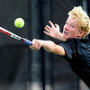 "Tommy Mason, of Fairview, plays in the #3 doubles match with  Andrew Pollack against Cherry Creek.<br /> For more photos of state tennis, go to  <a href=""http://www.dailycamera.com"">http://www.dailycamera.com</a>.<br /> Cliff Grassmick / October 15, 2011"