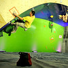 "Boulder climber Jon Glassberg, left, shows his bouldering skills on Saturday, Feb. 12, at the 2011 ABS 12 National Championships at 3550 Frontier Ave. in Boulder. For more photos and a video of the event go to  <a href=""http://www.dailycamera.com"">http://www.dailycamera.com</a><br /> Jeremy Papasso/ Camera"
