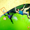 "Boulder climber Carlo Traversi shows his bouldering skills on Saturday, Feb. 12, at the 2011 ABS 12 National Championships at 3550 Frontier Ave. in Boulder. For more photos and a video of the event go to  <a href=""http://www.dailycamera.com"">http://www.dailycamera.com</a><br /> Jeremy Papasso/ Camera"