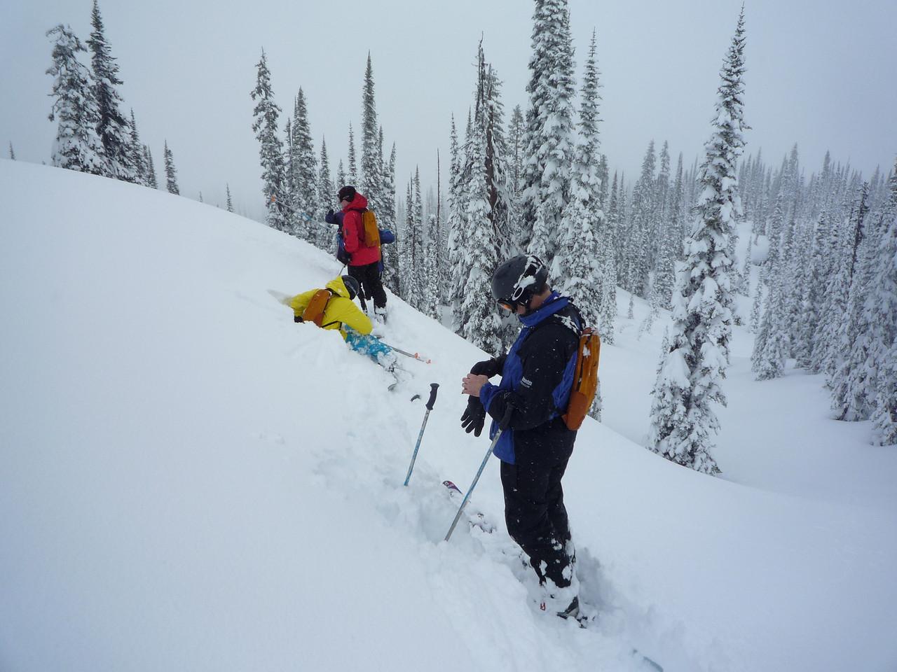 Day 1 of Heli Skiing
