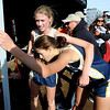 "Kelley Robinson, left, comforts Rebecca Hermann, both of Nederland after the 2A race. Nederland won the girls 2A  state championship.<br /> For more photos of state, go to  <a href=""http://www.dailycamera.com"">http://www.dailycamera.com</a>.<br /> Cliff Grassmick / October 29, 2011"