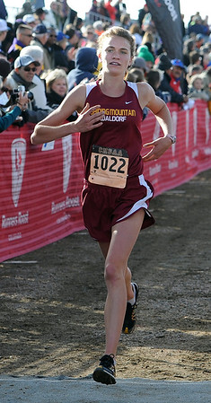 "Birdie Hutton of Shining Mountain was third in the 2A race.<br /> For more photos of state, go to  <a href=""http://www.dailycamera.com"">http://www.dailycamera.com</a>.<br /> Cliff Grassmick / October 29, 2011"