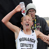"Michael Reese of Monarch High School pours water on himself after finishing 9th at 5A state.<br /> For more photos of state, go to  <a href=""http://www.dailycamera.com"">http://www.dailycamera.com</a>.<br /> Cliff Grassmick / October 29, 2011"