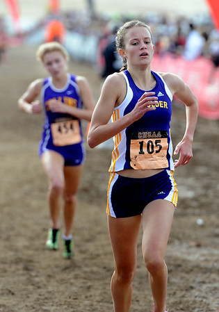 """Sam Lewis  of Boulder High finishes in the top 10 of the 5A race.<br /> For more photos of state, go to  <a href=""""http://www.dailycamera.com"""">http://www.dailycamera.com</a>.<br /> Cliff Grassmick / October 29, 2011"""