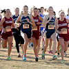 "Kelley Robinson (803) runs with her Nederland teammates in the beginning of the 2A race. Nederland won the team title.<br /> For more photos of state, go to  <a href=""http://www.dailycamera.com"">http://www.dailycamera.com</a>.<br /> Cliff Grassmick / October 29, 2011"