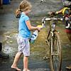 The local children's group organized a bike wash....