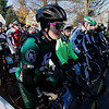 Record-Eagle/Keith King<br /> Brad Legris, of Brighton, readies himself at the starting line along South Walnut Street in Kalkaska Saturday, November 5, 2011 as he, along with other riders, prepares to compete in the 22nd annual Iceman Cometh.