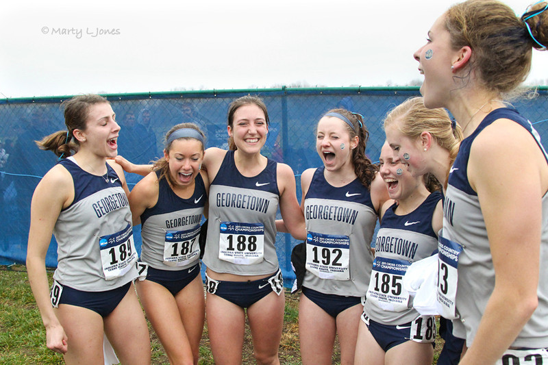 Georgetown just after announcing they had won the team title.