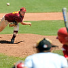 "Rocky Mountain Lobos pitcher Carl Stajduhar throws some heat on Sunday, July 31, during the Colorado State Legion A Championship game against Fairview at Fairview High School in Boulder. Rocky Mountain Lobos defeated Fairview 12-6. For more photos of the game go to  <a href=""http://www.dailycamera.com"">http://www.dailycamera.com</a><br /> Jeremy Papasso/ Camera"