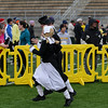 """Record-Eagle/Keith King<br /> Jan and Scott Baty, of Traverse City, near the finish line dressed as pilgrims Thursday, November 24, 2011 during the fourth annual Traverse City Turkey Trot. """"It's our Thanksgiving tradition,"""" Jan said."""