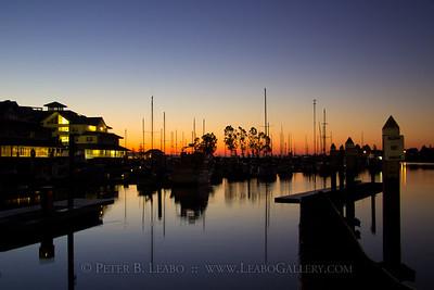 Wine Country Rowing Classic dawn at the Petaluma Marina