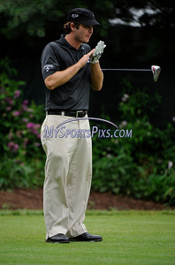 6/24/2011 MIke Orazzi | Staff Kevin Steelman on number 10 at TPC River Highlands during the 2011 Travelers Championship on Friday afternoon.