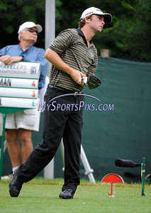 6/24/2011 MIke Orazzi | Staff Spencer Levin on 10 at TPC River Highlands during the 2011 Travelers Championship on Friday afternoon.