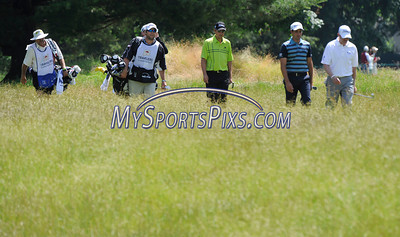 6/25/2011 Mike Orazzi | Staff Bryce Molder, Alexandre Rocha and D.J. Trahan on 5 during the 2011 Travelers Championship at TPC River Highlands on Saturday, June 25, 2011.