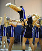 2/19/2011 Mike Orazzi | Staff<br /> CCSU cheerleaders team during Saturday's basketball game with Quinnipiac.