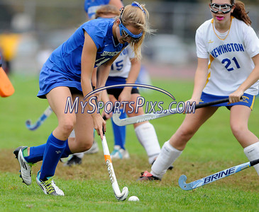 9/20/2011 Mike Orazzzi | Staff Southington's Sarah Collier  (11) during Tuesday's field hockey match with Newington at NHS.
