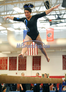 3/5/2011 Mike Orazzi | Staff Southington's Brooke DeGumbia during the CIAC 2011 Gymnastics Open meet at Pomperaug's High School on Saturday.