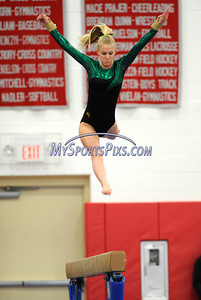 3/5/2011 Mike Orazzi   Staff Holy Cross' paige wilde The CIAC 2011 Gymnastics Open meet at Pomperaug's High School on Saturday.