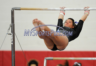 3/5/2011 Mike Orazzi   Staff Southington's Brooke DeGumbia during the CIAC 2011 Gymnastics Open meet at Pomperaug's High School on Saturday.