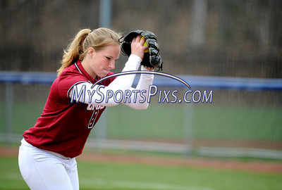 4/20/2011 Mike Orazzi | Staff UMass' Sara Plourde (9) pitching against UConn in Storrs on Wednesday afternoon.