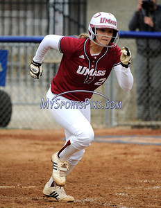 4/20/2011 Mike Orazzi | Staff UMass' Audrey Boutin against UConn in Storrs on Wednesday afternoon.
