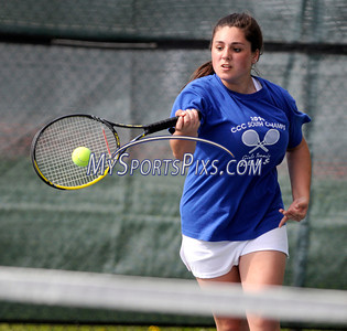 5/11/2011 Mike Orazzi | Staff Bristol Eastern's Kaylee Cifone during Wednesday's tennis match with Berlin Eastern at Eastern.