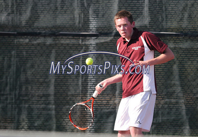 4/26/2011 Mike Orazzi   Staff Bristol Central's Josh Dowd during Tuesday's match with Hall.